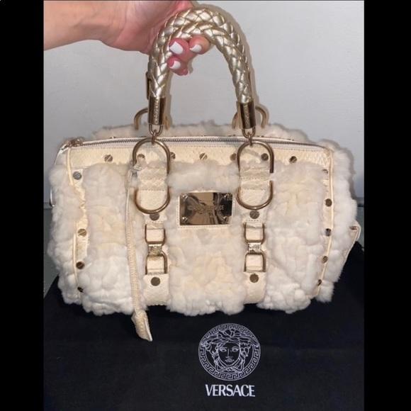 Gianni Versace RARE Fur & Python Leather Bag